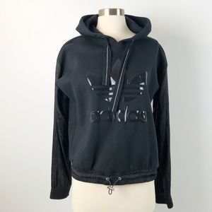 Adidas Sweater Hooded Black Small Hoodie